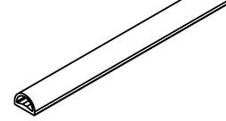 Profilo in gomma HAWA per la protezione degli spigoli del vetro