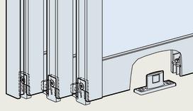 Ferramenta raggruppamento per ante scorrevoli per ante in legno o con telaio in alluminio, rotaia superiore