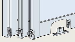 Ferrements pour empilage pour portes coulissantes EKU-DIVIDO 100 GR/GRM