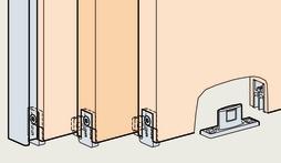 Ferrements pour empilage pour portes coulissantes EKU-DIVIDO 100