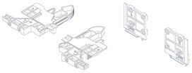 3D-Accouplement et adaptateur de réglage GRASS