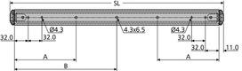 Coulisses à billes à double extension ACCURIDE Dual DZ 3630