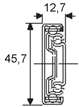 Coulisses à billes à double extension ACCURIDE 3832TR pour ouverture par léger effleurement