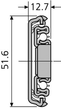 Guide a estrazione totale su sfere ACCURIDE 3507, con funzione chiusura