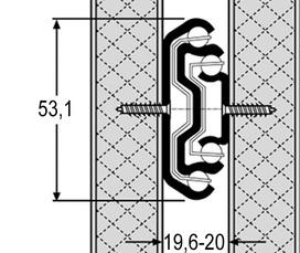 Coulisses à billes à double extension ACCURIDE 5321EC