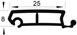 Profils de jalousie REHAU de 25 mm Metallic-Line