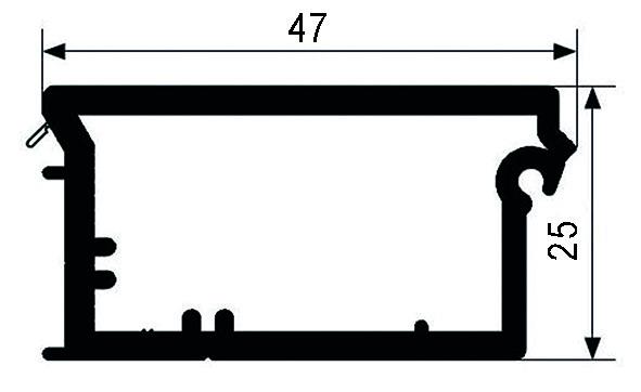 Lattes de fermeture (profil de poignée) REHAU RAUVOLET E 23