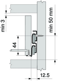 Guide a estrazione totale BLUM guide su rotelle Standard 430E MP