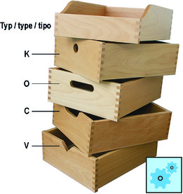 Tiroirs en bois massif, fabriqués selon vos dimensions