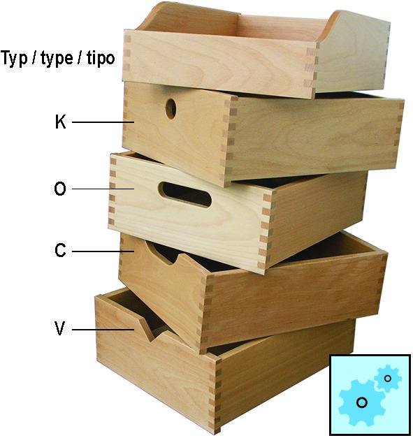 Komplett-Schubkästen in Massivholz, massindividuell gefertigt