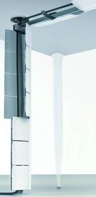 Sistema di canaline per cavi FLAP, verticale