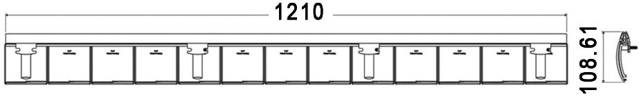 Système de passe-câbles FLAP, horizontal