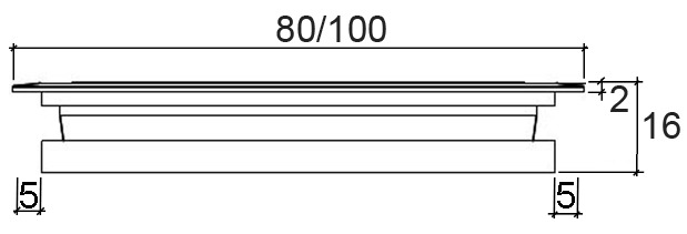 Rosette passacavi
