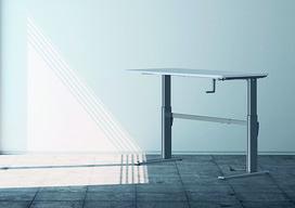 Support pour position assise et debout réglable par manivelle Pro 110 HC