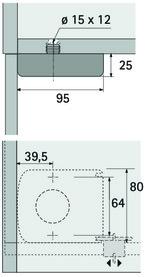 Befestigungsplatte für Sockelverstellfüsse Korrekt