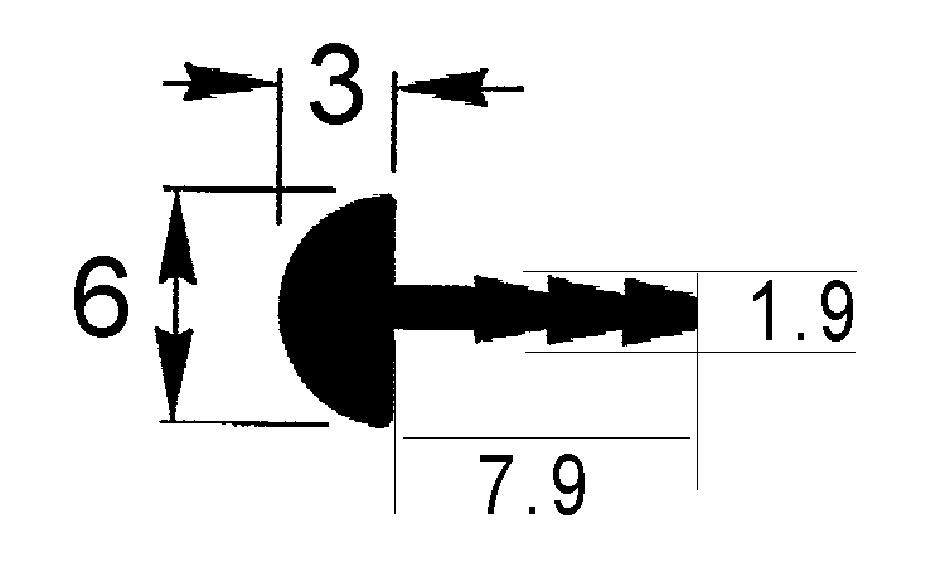 Profils de protection demi-ronds