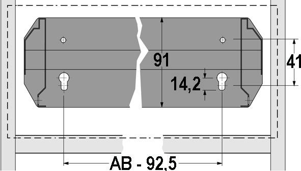 Telaio per classificatori cartelle sospese con regolazione progressiva della larghezza per pareti attrezzate