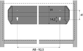 Telaio per classificatori cartelle sospese per pareti attrezzate