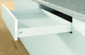 Kit completi cassetto stove HETTICH ArciTech, bianco, altezza spondine 78 mm / altezza del sistema 78 mm