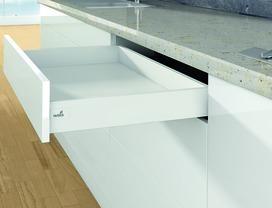 Kit completi cassetto / cassetto interno HETTICH ArciTech, bianco, altezza spondine 94 mm / altezza del sistema 94 mm