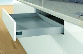 Kit completi cassetto / cassetto interno HETTICH ArciTech, argento, altezza spondine 94 mm / altezza del sistema 94 mm