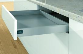 Kit completi cassetto stove HETTICH ArciTech, argento, altezza spondine 78 mm / altezza del sistema 78 mm