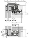 Ferrements pour portes coulissantes HETTICH TopLine XL, Forslide, conduite amorties