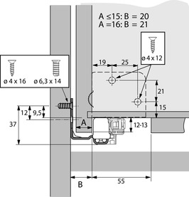 Roulements à double extension Quadro V6 4D Push to open