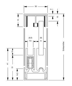 Rail de coulissage à cadre SUPRA, inférieur