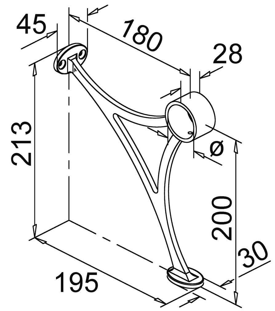 supports repose-pieds pour rail de pieds sur comptoir bar