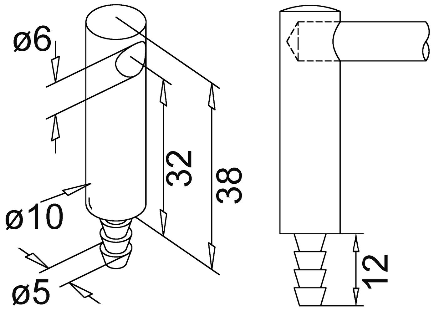 Supports latéraux, perçage d'un côté