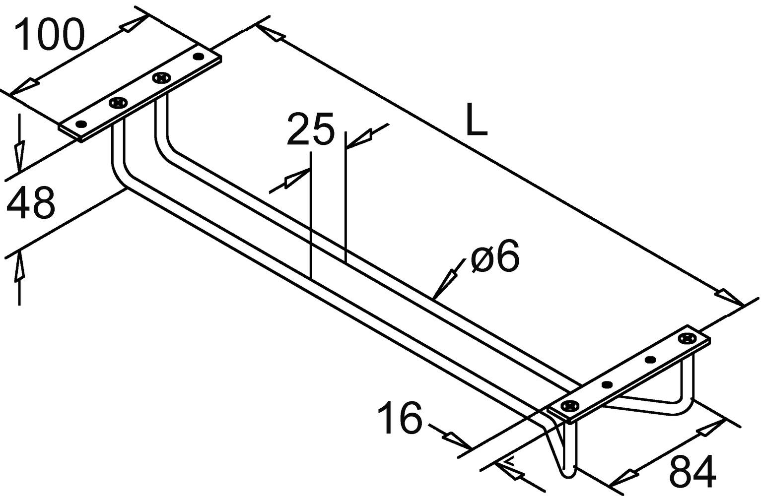 Porte-verre ø 6 mm