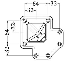 Pieds de table 60/60 mm CAMAR