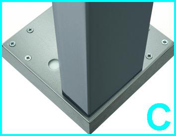 Pieds de table 50/100 mm