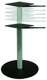 Pieds de table réglables en hauteur par vérin à gaz