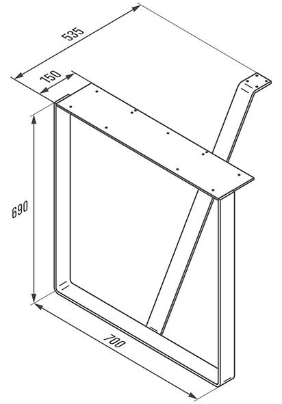 Barres de support pour tables autonomes