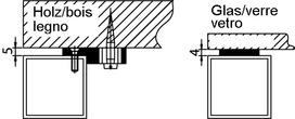 Befestigungs-Sets zu Rahmentischgestelle