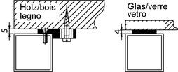 Kit di fissaggio per telai per tavoli