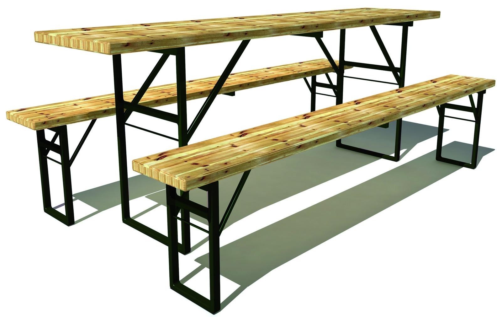 Pieds pour tables et bancs pliants