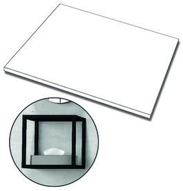 Fond en verre système d'étagères ONE