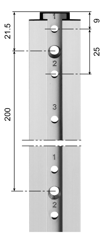 Cremagliere AWESO 1010 tipo 1, per carichi leggeri