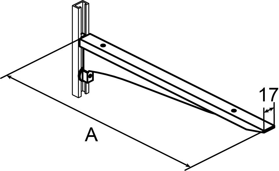 Konsolen AWESO 1562 Typ 1, für leichte Belastung