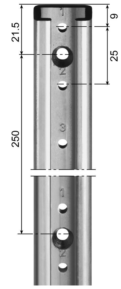Stellschienen AWESO 1042 Typ 2, für mittlere Belastung