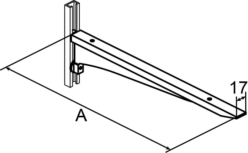 Mensole AWESO 1572 tipo 2, per carichi medi
