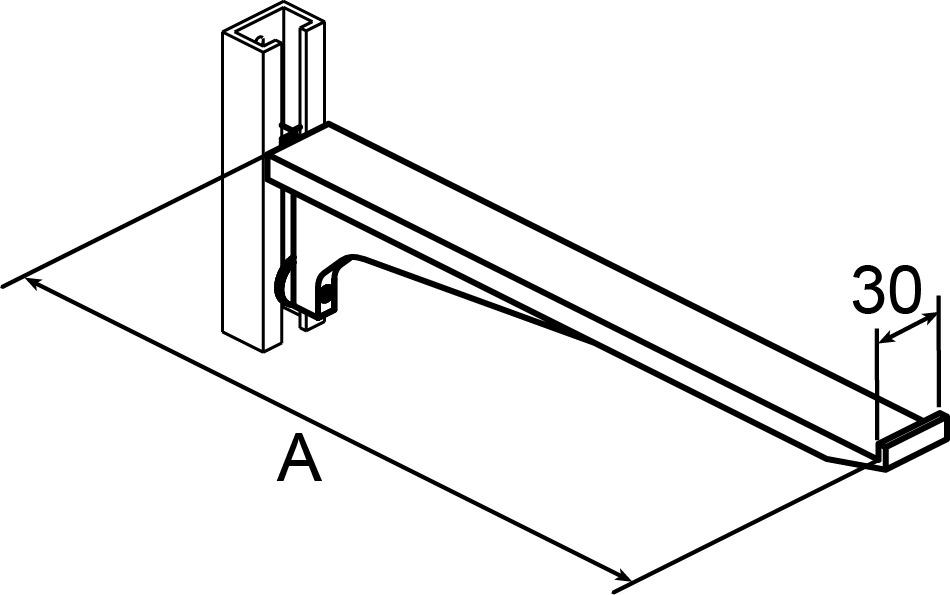 Mensole AWESO 1580 tipo 3, per carichi pesanti