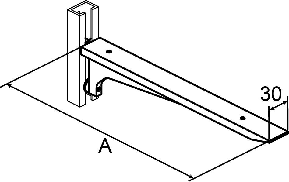 Mensole AWESO 1582 tipo 3, per carichi pesanti