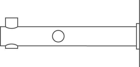 Supports de tringle pour vestiaire PHOS