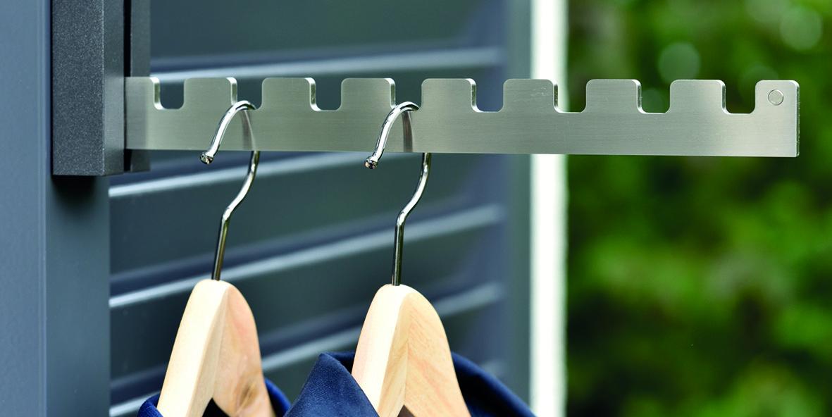 Crochets de vestiaire rabattable