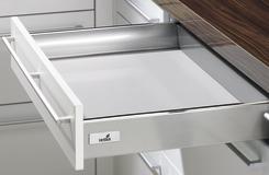 Schubkasten Zargensystem HETTICH InnoTech, silber, Zargenhöhe 70 mm