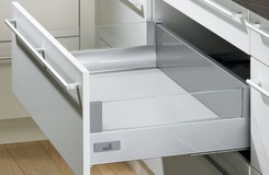Frontauszug DesignSide Zargensystem HETTICH InnoTech, silber, Zargenhöhe 70 mm